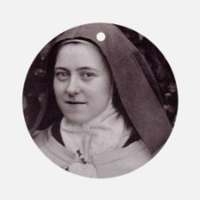 Saint Therese Of Lisieux Round Ornament