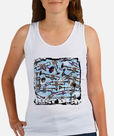 Trumpet Design Just Play by Juleez Tank Top