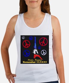 Eiffel Tower Peace Symbols Illumi Women's Tank Top