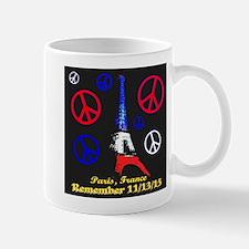Eiffel Tower Peace Symbols Illuminated Mug