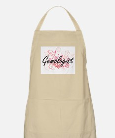 Gemologist Artistic Job Design with Flowers Apron