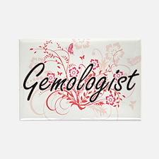 Gemologist Artistic Job Design with Flower Magnets