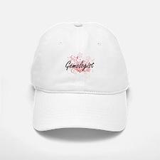 Gemologist Artistic Job Design with Flowers Baseball Baseball Cap