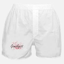 Gemologist Artistic Job Design with F Boxer Shorts