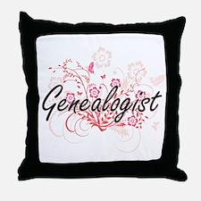 Genealogist Artistic Job Design with Throw Pillow
