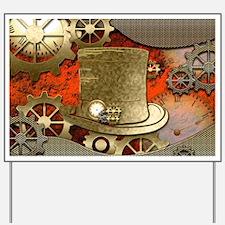 Steampunk witch hat Yard Sign