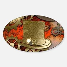 Steampunk witch hat Decal