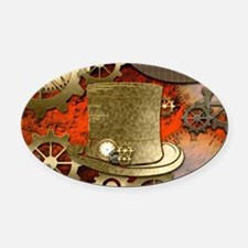Steampunk witch hat Oval Car Magnet