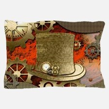 Steampunk witch hat Pillow Case