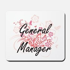 General Manager Artistic Job Design with Mousepad
