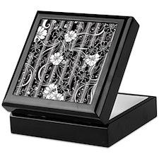 Striped Flower Black and White Design Keepsake Box