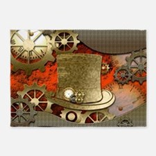 Steampunk witch hat 5'x7'Area Rug