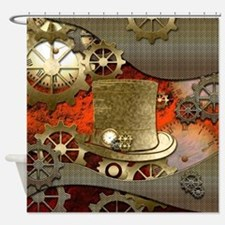 Steampunk witch hat Shower Curtain