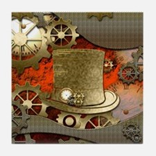 Steampunk witch hat Tile Coaster