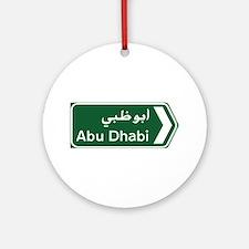 Abu Dhabi, United Arab Emirates Round Ornament