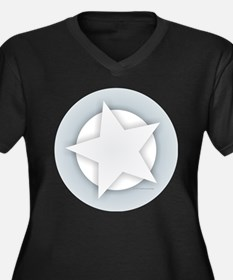 White Star Plus Size T-Shirt
