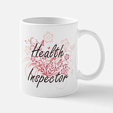 Health Inspector Artistic Job Design with Flo Mugs