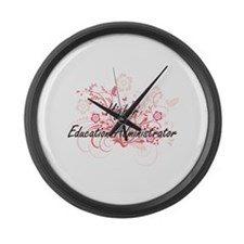 Higher Education Administrator Ar Large Wall Clock