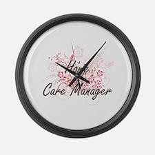 Home Care Manager Artistic Job De Large Wall Clock