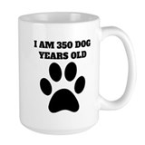 50 in dog years Large Mugs (15 oz)