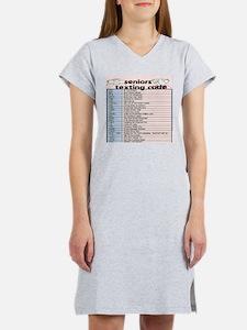 senior texting code Women's Nightshirt