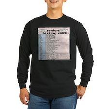senior texting code Long Sleeve T-Shirt