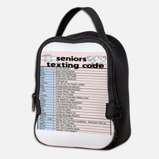 senior texting code Neoprene Lunch Bag