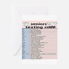 senior texting code Greeting Cards