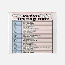 senior texting code Throw Blanket