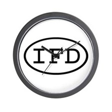 IFD Oval Wall Clock
