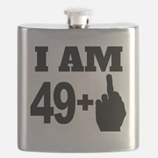49 Years Old Middle Finger Flask