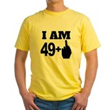 49th birthday Mens Yellow T-shirts