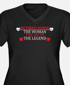 Retired Nurse, Attitude T-shirt Plus Size T-Shirt