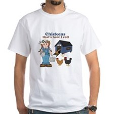 Girl With Chickens T-Shirt