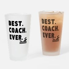 Best Coach Ever Swimming Drinking Glass