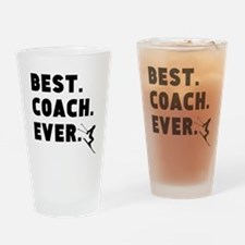 Best Coach Ever Skiing Drinking Glass