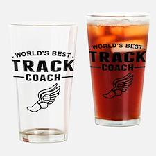 Worlds Best Track Coach Drinking Glass
