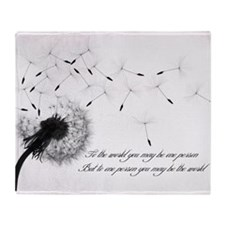 Dandelion Inspiration Throw Blanket
