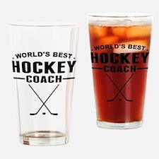 Worlds Best Hockey Coach Drinking Glass