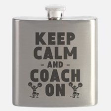 Keep Calm And Coach On Cheerleading Flask
