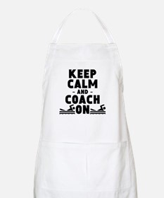 Keep Calm And Coach On Swimming Apron