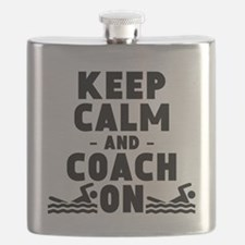 Keep Calm And Coach On Swimming Flask