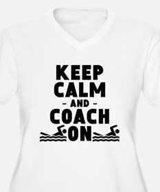 Keep Calm And Coach On Swimming Plus Size T-Shirt