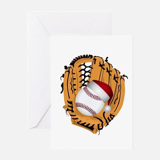 Christmas Baseball Greeting Cards