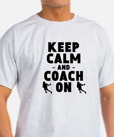 Keep Calm And Coach On Lacrosse T-Shirt