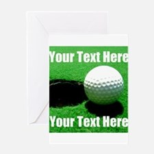 Golfball Greeting Cards