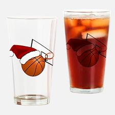 Cute Christmas basket Drinking Glass