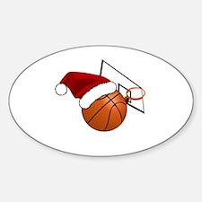 Unique Basket ball Sticker (Oval)