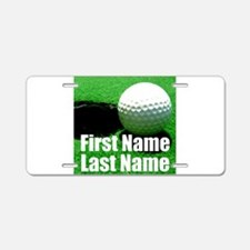 Golfball Aluminum License Plate