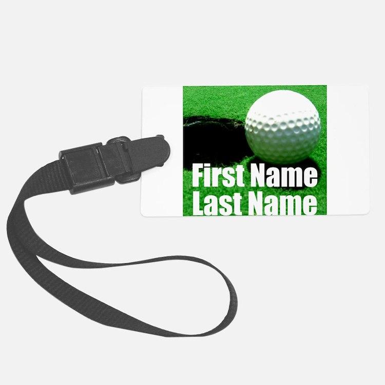 Golfball Luggage Tag